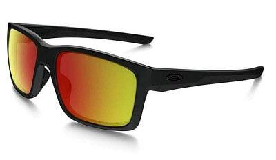Sluneční brýle Oakley Mainlink Matte Black w/ Ruby Irid Polar
