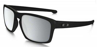 Sluneční brýle Oakley Sliver Machinist Matte Blk w/Chrome Irid