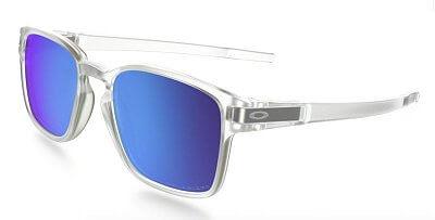 Sluneční brýle Oakley Latch SQ Matte Clear w/Sapphire Irid Pol