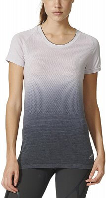 Dámské běžecké tričko adidas Primeknit Wool Dip Dye Tee w