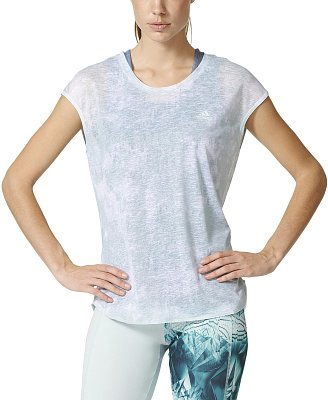 Dámské běžecké tričko adidas Run SS Layer Tee
