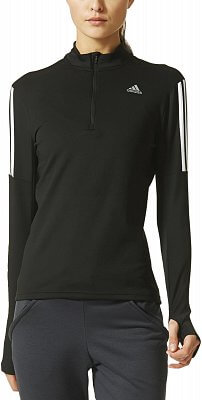 Dámské běžecké tričko adidas Response 1/2 Zip Long Sleeve Tee w