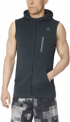 Pánská běžecká mikina adidas Ultra Energy Fleece Vest m