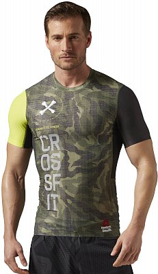 Reebok CrossFit SS Compression Shirt AOP
