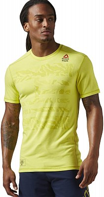 Pánské fitness tričko Reebok CrossFit Burnout Tee Solid