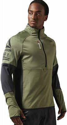 Pánská fitness mikina Reebok One Series Hexawarm Thermal SpeedWick 1/4 Zip