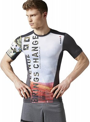 Pánské fitness tričko Reebok One Series ACTIVChill Sublimated Compression Tee
