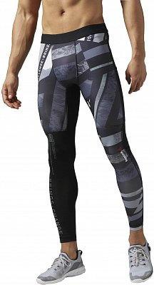 Pánské sportovní kalhoty Reebok One Series Shattered Stripe Compression Tight