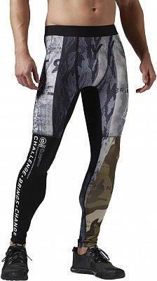 Pánské sportovní kalhoty Reebok One Series Winter Camo Compression Tight