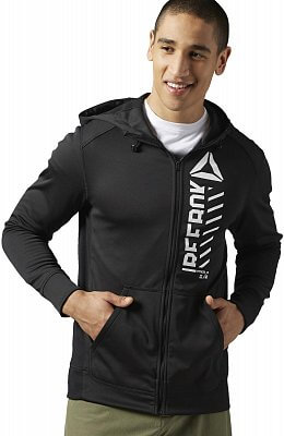 Pánská fitness mikina Reebok WorkOut Ready Warm Poly Fleece Fullzip