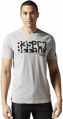 Pánské fitness tričko Reebok WorkOut Ready Cotton Graphic Tee