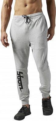 Pánské sportovní kalhoty Reebok WorkOut Ready Cotton Graphic Track Pant