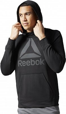 Pánská fitness mikina Reebok WorkOut Ready Warm Poly Fleece Over the Head