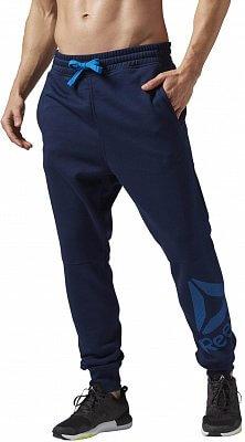 Pánské sportovní kalhoty Reebok WorkOut Ready Big logo cotton pant
