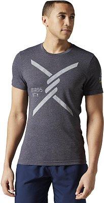 Pánské běžecké tričko Reebok OTR Short Sleeve Tri-blend Tee 2