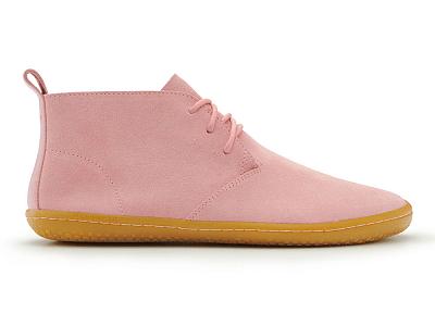 Dámská vycházková obuv VIVOBAREFOOT GOBI II L  Suede Dust Pink