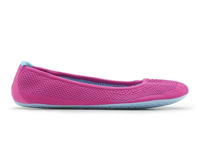 Dámská vycházková obuv VIVOBAREFOOT TRICOT PINK/ TURQUISE