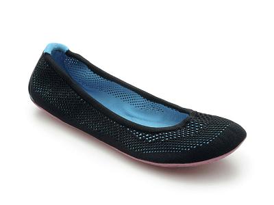 Dámska vychádzková obuv VIVOBAREFOOT TRICOT BLACK/ TURQUISE
