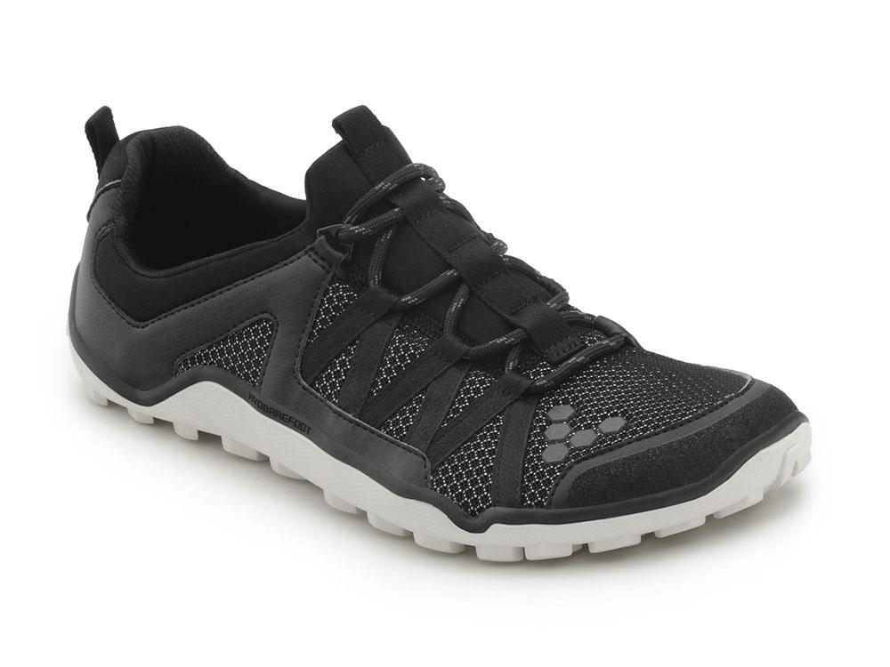 Pánske bežecké topánky VIVOBAREFOOT BREATHO TRAIL M 3M Mesh Black/White