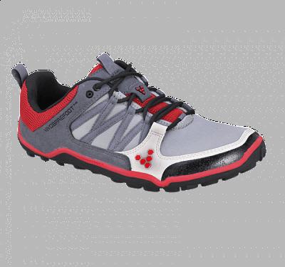 Pánske bežecké topánky VIVOBAREFOOT Neo Trail M Grey/ Red