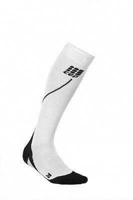 Ponožky CEP Běžecké podkolenky pánské bílá / černá