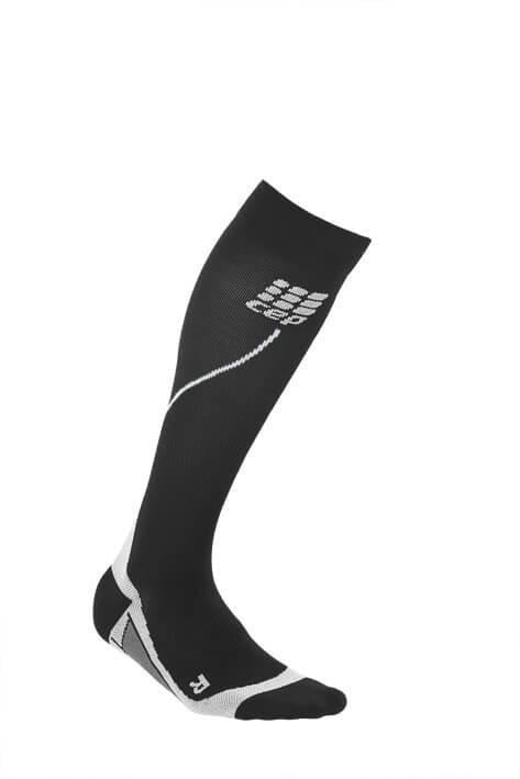 Ponožky CEP Běžecké podkolenky dámské černá / šedá