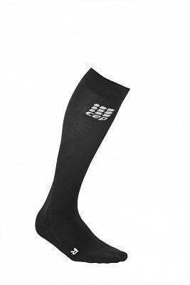 Ponožky CEP Běžecké podkolenky dámské černá / černá