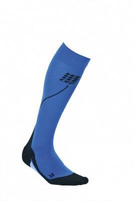 Ponožky CEP Běžecké podkolenky dámské modrá / černá
