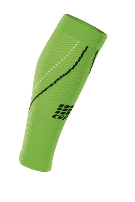 Návleky CEP lýtkové návleky NIGHT pánské reflexní zelená