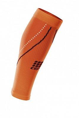 Kompresní návleky CEP lýtkové návleky NIGHT dámské reflexní oranžová