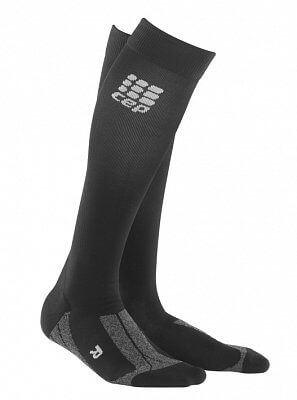 Ponožky CEP Podkolenky pro regeneraci pánské černá