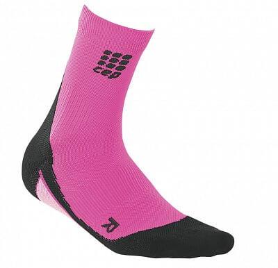 Ponožky CEP Krátké ponožky dámské reflexní růžová / černá