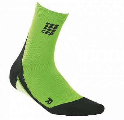 CEP Krátké ponožky pánské reflexní zelená / černá