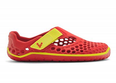 Dětská vycházková obuv VIVOBAREFOOT ULTRA K EVA Red/Sulphur