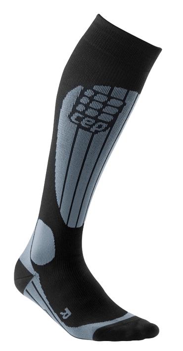 CEP Lyžařské termo podkolenky dámské černá   šedá - dámské ponožky ... 5a3f00902a