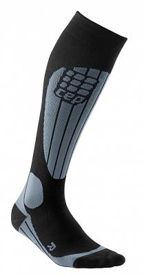 Ponožky CEP Lyžařské termo podkolenky dámské černá / šedá