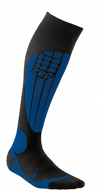 Ponožky CEP Lyžařské termo podkolenky pánské černá / modrá