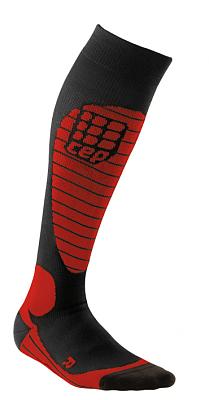 Ponožky CEP Lyžařské podkolenky RACE pánské černá / červená