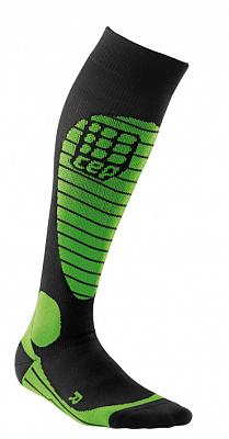 Ponožky CEP Lyžařské podkolenky RACE pánské černá / zelená
