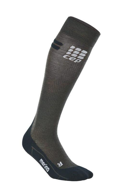 Socken CEP Běžecké podkolenky merino pánské antracitová / černá