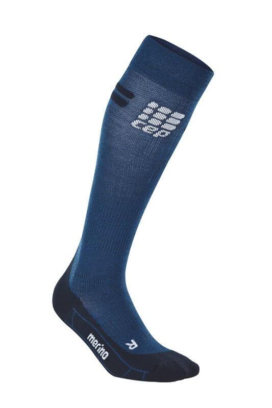 Socken CEP Běžecké podkolenky merino pánské tmavě modrá / černá