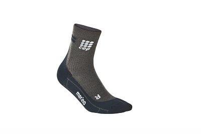Ponožky CEP Krátké běžecké  ponožky merino dámské antracitová / černá