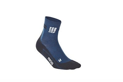 Ponožky CEP Krátké běžecké  ponožky merino pánské tmavě modrá / černá