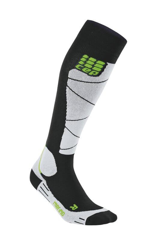 Socken CEP Lyžařské podkolenky merino dámské černá / šedá