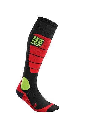 Ponožky CEP Podkolenky pro snowboard dámské černá / červená