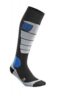 Ponožky CEP Podkolenky pro snowboard pánské černá / šedá