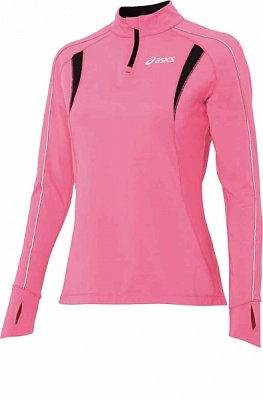 Trička Asics ASICS Half Zip Top, Long Sleeves
