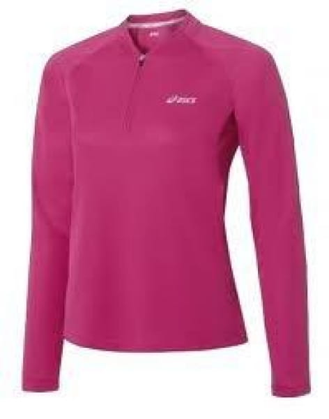 Trička ASICS Half Zip Top, Long Sleeves W