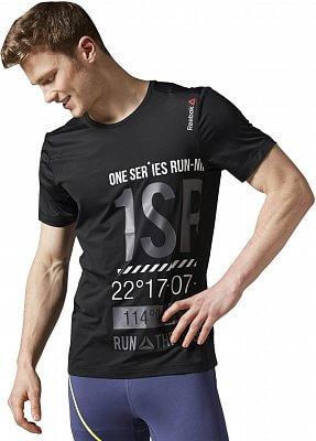 Pánské běžecké tričko Reebok One Series Running Short Sleeve Graphic  Tee