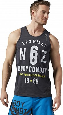 Pánské fitness tričko Reebok Les Mills Bodycombat ACTIVChill Tank